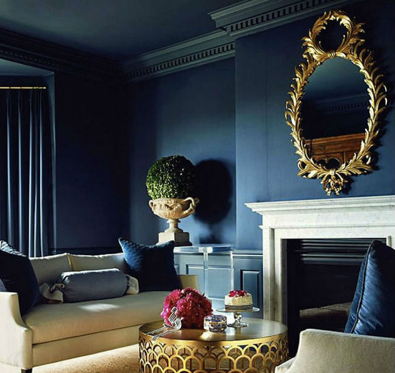 16 Blue Living Room Ideas That Wont Turn You Blue In 2020 Houszed