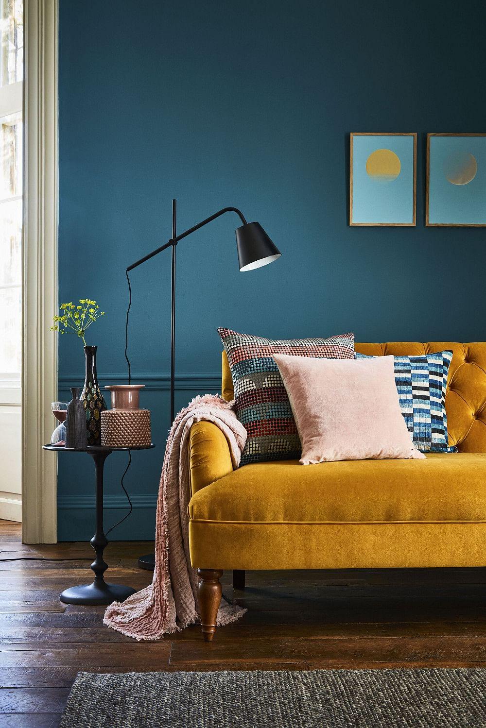 16 Blue Living Room Ideas That Wont Turn You Blue In 2020 Houszed,Acnh Bathroom Floor Design