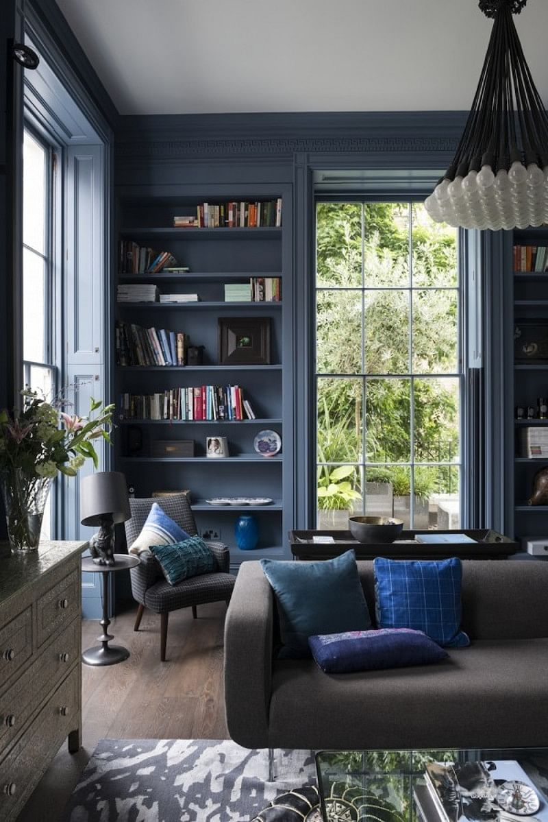 16 Blue Living Room Ideas That Wont Turn You Blue In 2021 Houszed