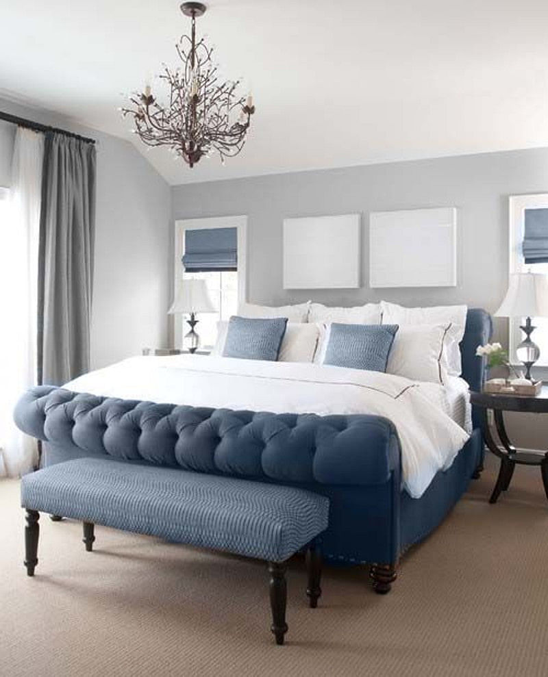 10+ Blue and Gray Bedroom Ideas That Make You Happy in 10  Images