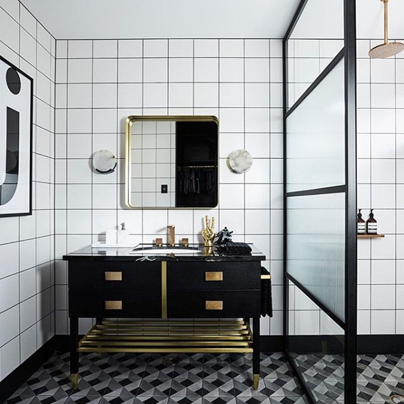 27 Wonderful Art Deco Bathroom Ideas In 2021 Houszed