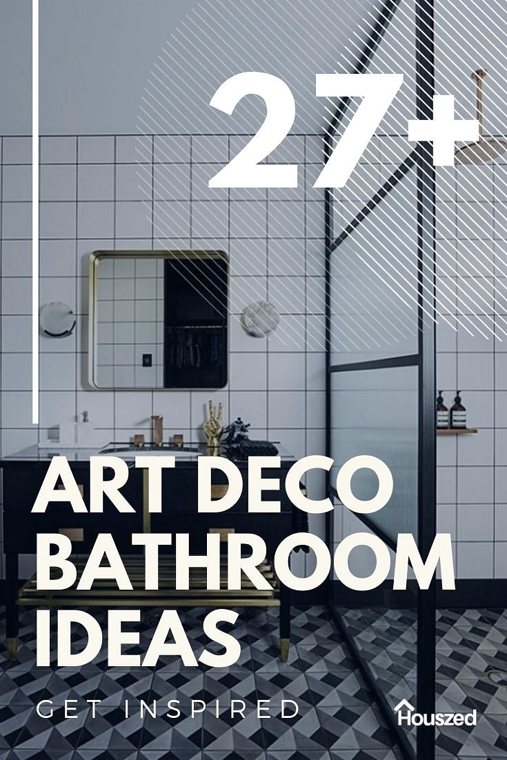 10+ Wonderful Art Deco Bathroom Ideas in 10  Houszed