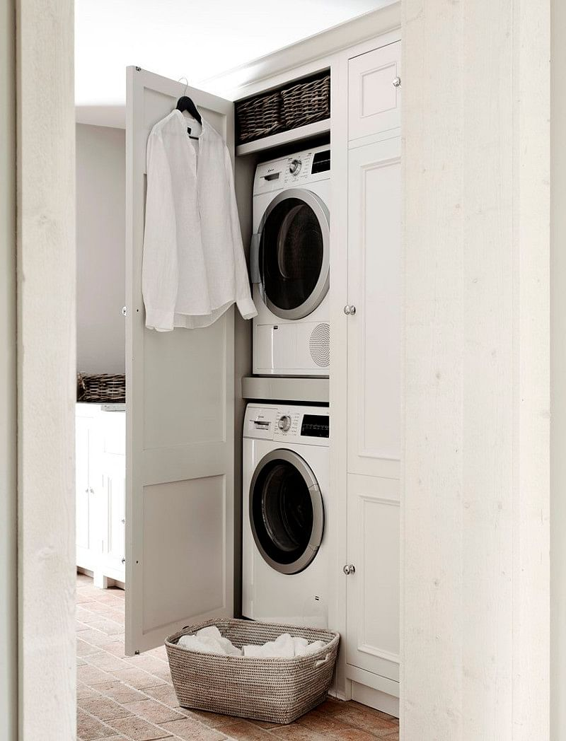 19 How To Hide A Washing Machine Ideas, Cabinets To Conceal Washer And Dryer