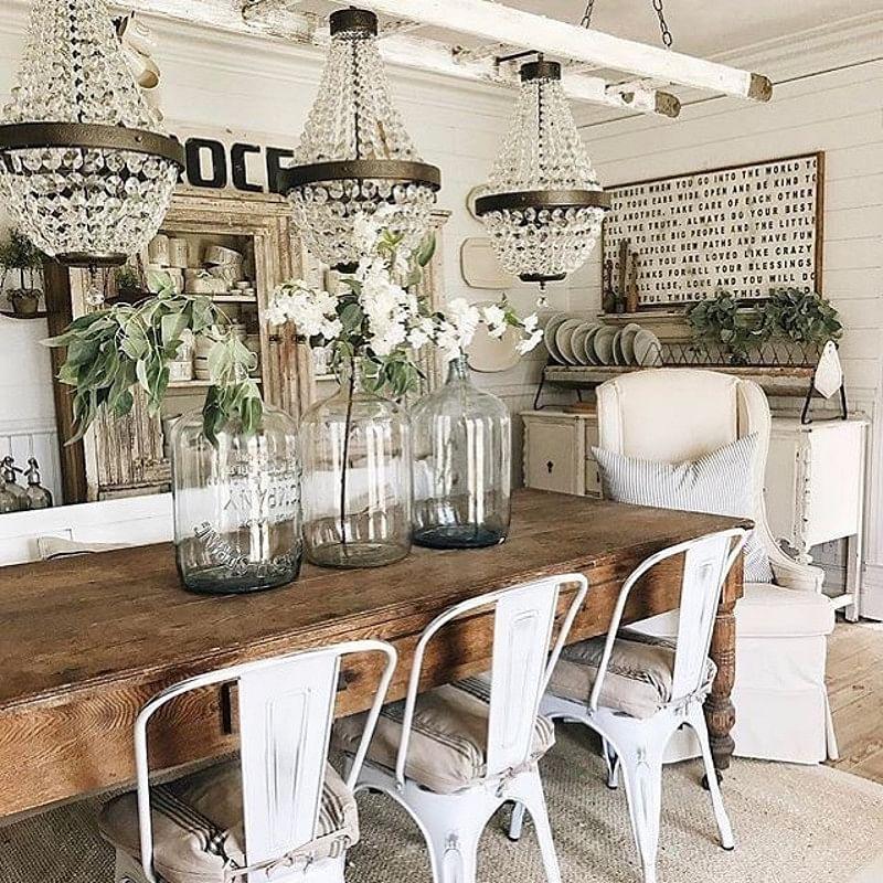 Beautiful Shabby Chic Dining Room Ideas, Rustic Shabby Chic Dining Room