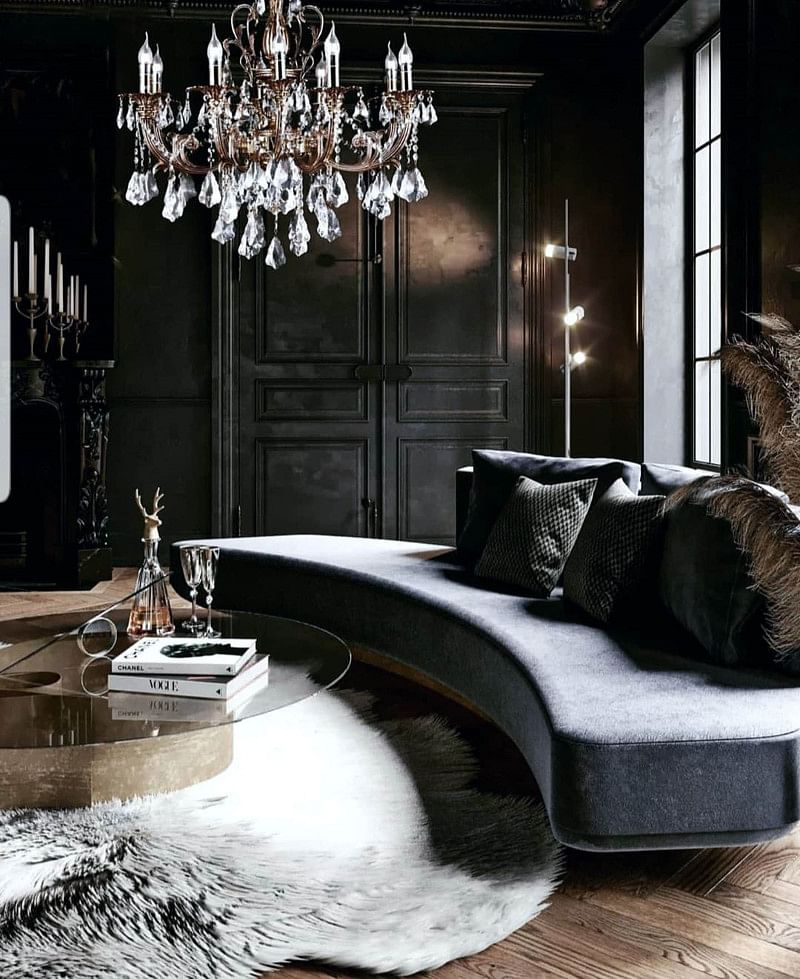 17 Delicious Gothic Living Room Ideas In 2021 Houszed