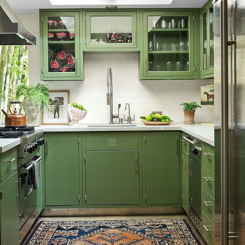 15 Green Kitchen Ideas That Will Make You Jealous In 2021 Houszed