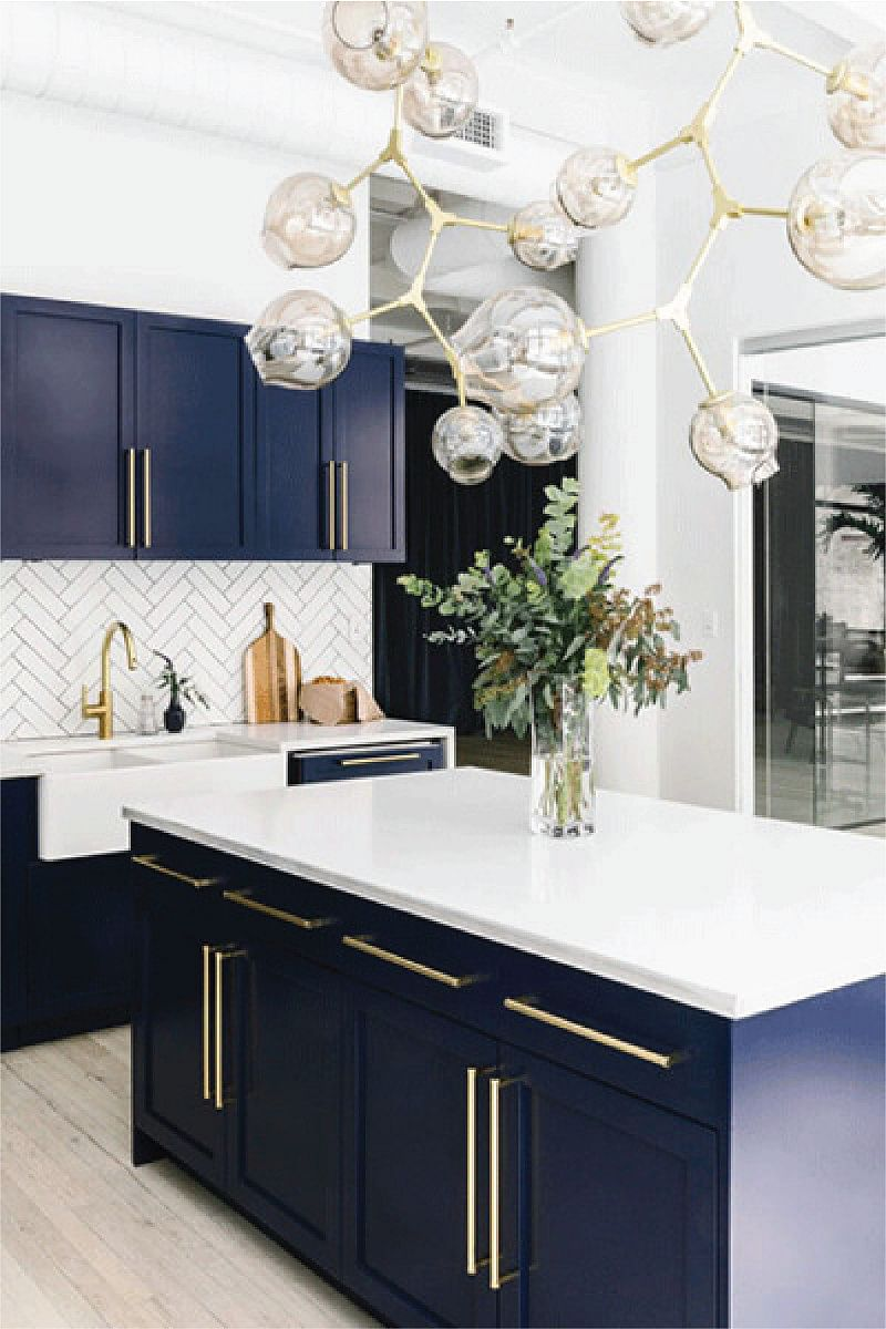 21 Amazing Blue Kitchen Cabinet Ideas In 2021 Houszed