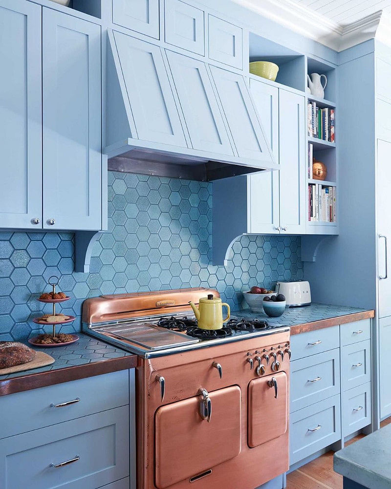 21 Amazing Blue Kitchen Cabinet Ideas In 2021 Houszed